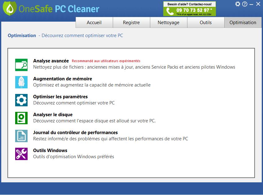 GRATUIT CLEANER ONESAFE TÉLÉCHARGER PC