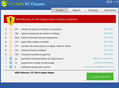 onesafe pc cleaner gratuit