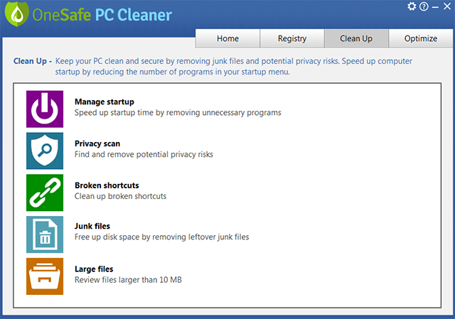 free clean up programs for computers